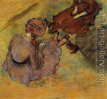 Woman Seated on the Grass by Edgar Degas - Reproduction Oil Painting