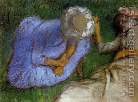Young Women Resting in a Field by Edgar Degas - Reproduction Oil Painting