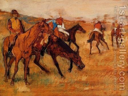 Before the Race III by Edgar Degas - Reproduction Oil Painting