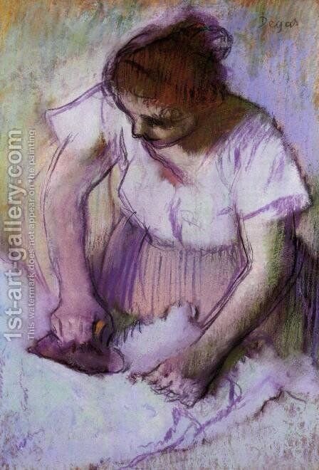Woman Ironing IV by Edgar Degas - Reproduction Oil Painting