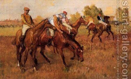 Before the Race IV by Edgar Degas - Reproduction Oil Painting