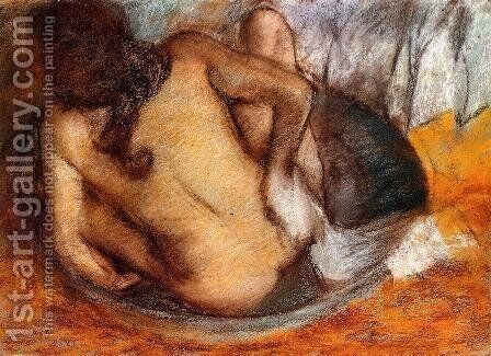 Nude in a Tub by Edgar Degas - Reproduction Oil Painting