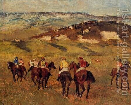 Racehorses I by Edgar Degas - Reproduction Oil Painting