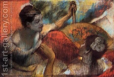 Dancers in a Box by Edgar Degas - Reproduction Oil Painting