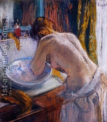 La Toilette I by Edgar Degas - Reproduction Oil Painting