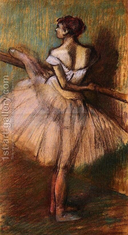 Dancer at the Barre II by Edgar Degas - Reproduction Oil Painting