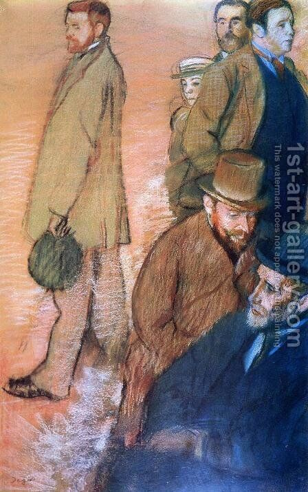 Six Friends of the Artist by Edgar Degas - Reproduction Oil Painting