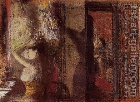 The Actresses Dressing Room by Edgar Degas - Reproduction Oil Painting