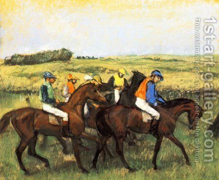 The Racecourse by Edgar Degas - Reproduction Oil Painting