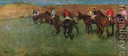At the Races - Before the Start by Edgar Degas - Reproduction Oil Painting