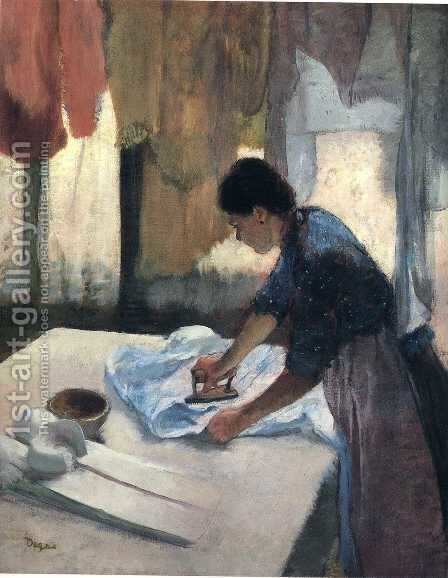 Woman Ironing V by Edgar Degas - Reproduction Oil Painting
