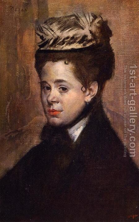 Bust of a Woman by Arthur Wesley Dow - Reproduction Oil Painting