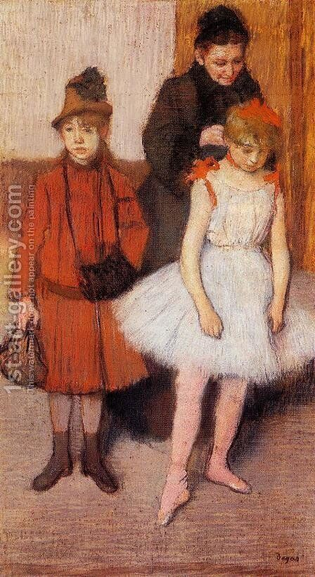 The Mante Family by Edgar Degas - Reproduction Oil Painting