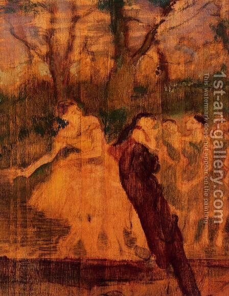 Dancers on the Scenery by Edgar Degas - Reproduction Oil Painting