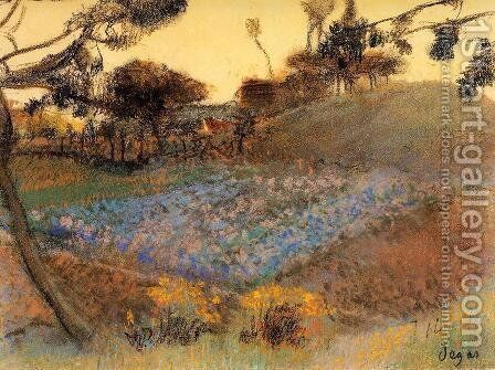 Field of Flax by Edgar Degas - Reproduction Oil Painting