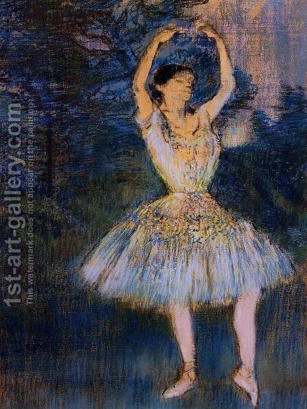Dancer with Raised Arms by Edgar Degas - Reproduction Oil Painting