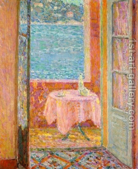Table by the Sea, Villefranche-sur-Mer by Henri Eugene Augustin Le Sidaner - Reproduction Oil Painting