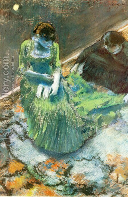 Before the Curtain Call by Edgar Degas - Reproduction Oil Painting