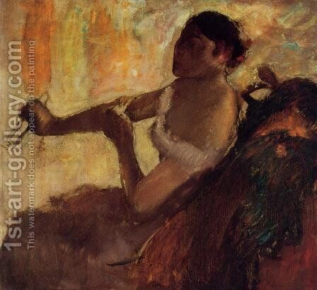 Rose Caron by Edgar Degas - Reproduction Oil Painting