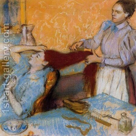 Woman Having Her Hair Combed I by Edgar Degas - Reproduction Oil Painting