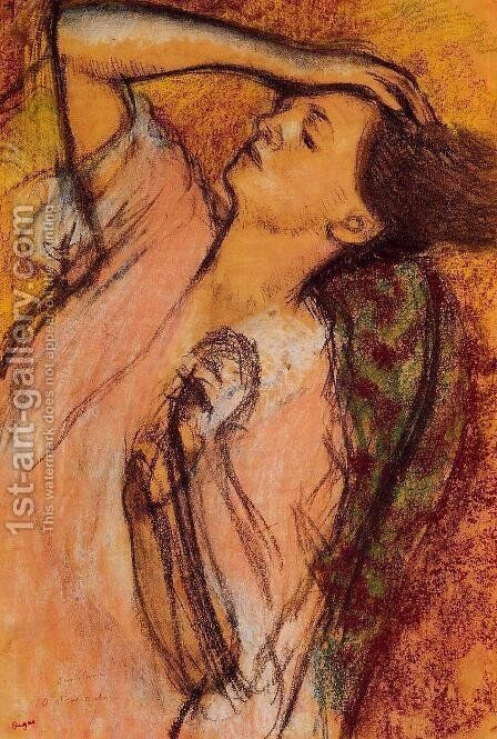 Combing the Hair I by Edgar Degas - Reproduction Oil Painting