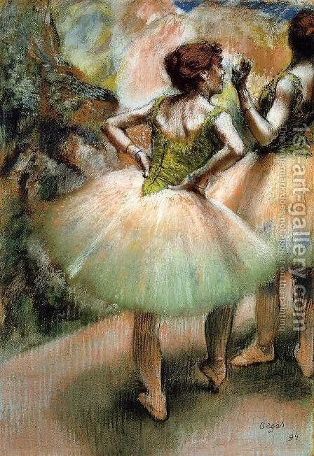 Dancers, Pink and Green I by Edgar Degas - Reproduction Oil Painting