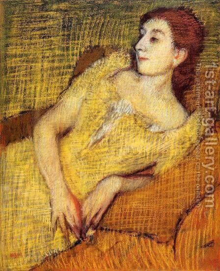 Seated Woman by Edgar Degas - Reproduction Oil Painting