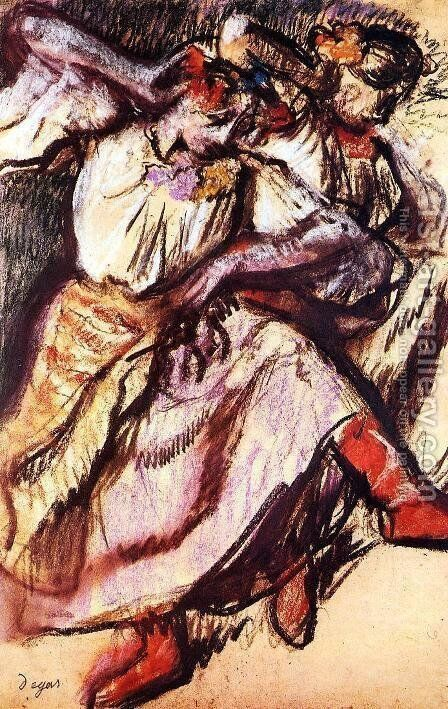 Two Russian Dancers by Edgar Degas - Reproduction Oil Painting