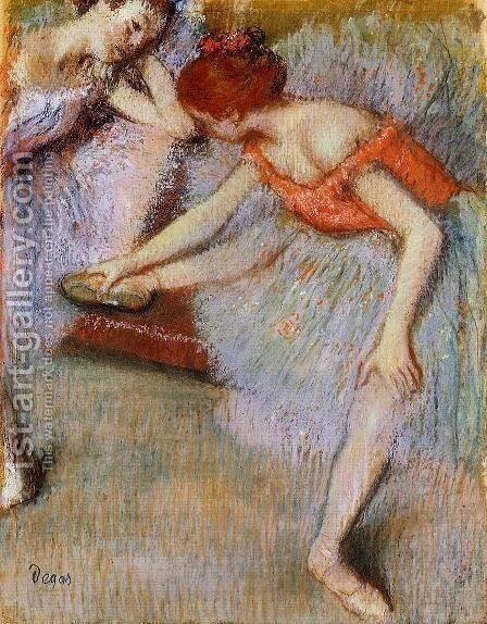 Dancers I by Edgar Degas - Reproduction Oil Painting