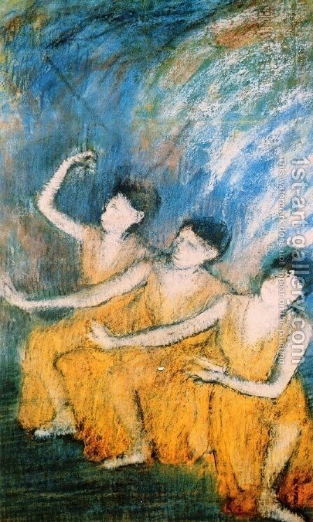 Three Dancers I by Edgar Degas - Reproduction Oil Painting