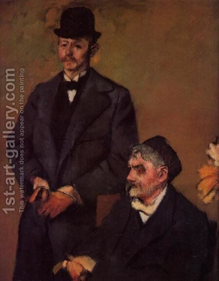 Henri Rouart and His Son Alexis by Edgar Degas - Reproduction Oil Painting