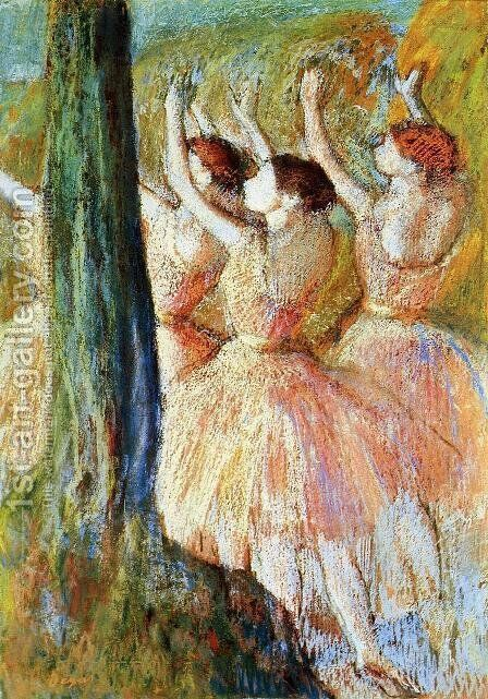 Pink Dancers by Edgar Degas - Reproduction Oil Painting