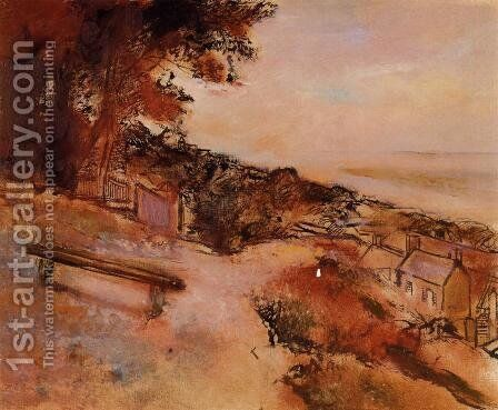 Landscape by the Sea by Edgar Degas - Reproduction Oil Painting