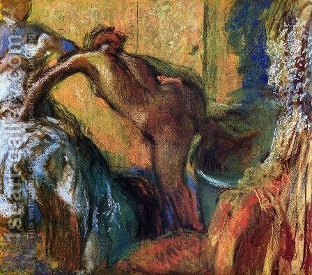 After the Bath IX by Edgar Degas - Reproduction Oil Painting