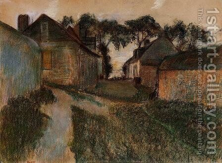 Rue Quesnoy, Saint-Valery-sur-Somme by Edgar Degas - Reproduction Oil Painting