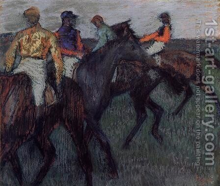 Racehorses II by Edgar Degas - Reproduction Oil Painting