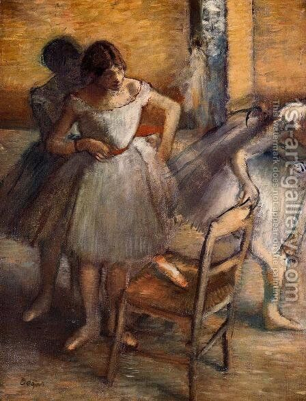 Dancers II by Edgar Degas - Reproduction Oil Painting