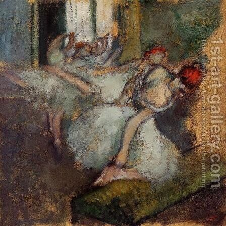 Ballet Dancers by Edgar Degas - Reproduction Oil Painting