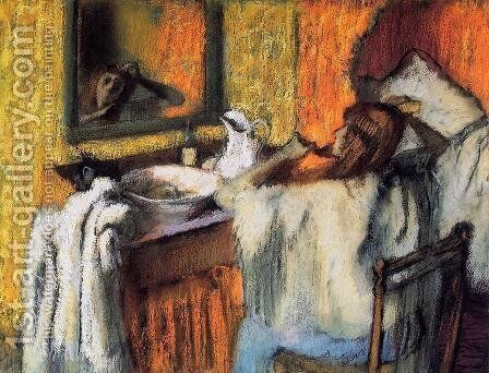 Woman at Her Toilette I by Edgar Degas - Reproduction Oil Painting