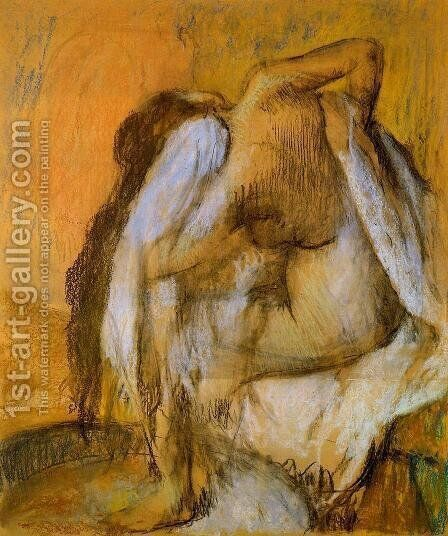 After the Bath, Woman Drying Herself III by Edgar Degas - Reproduction Oil Painting