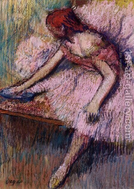 Pink Dancer I by Edgar Degas - Reproduction Oil Painting