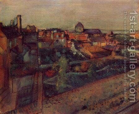 View of Saint-Valery-sur-Somme by Edgar Degas - Reproduction Oil Painting