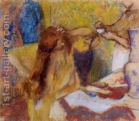 Woman at Her Toilette II by Edgar Degas - Reproduction Oil Painting