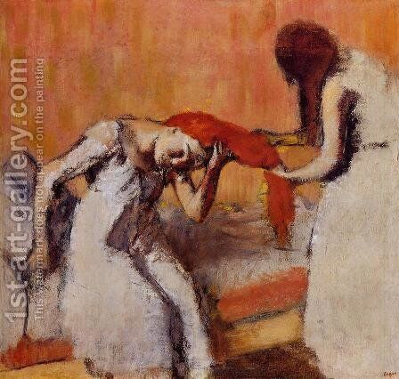 Combing the Hair II by Edgar Degas - Reproduction Oil Painting