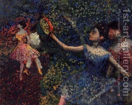 Dancer and Tambourine by Edgar Degas - Reproduction Oil Painting