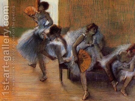 In the Dance Studio by Edgar Degas - Reproduction Oil Painting