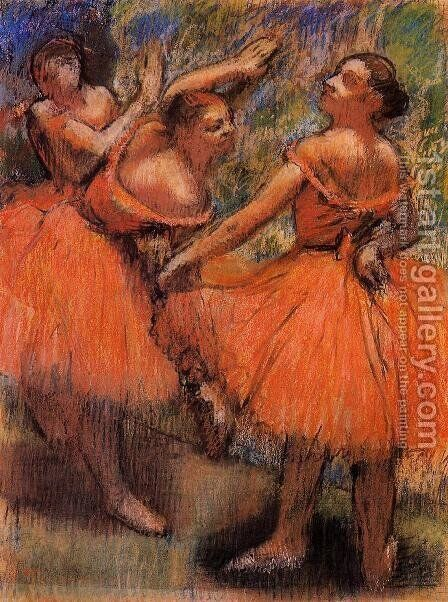 Red Ballet Skirts by Edgar Degas - Reproduction Oil Painting