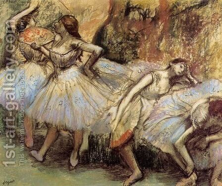Dancers III by Edgar Degas - Reproduction Oil Painting