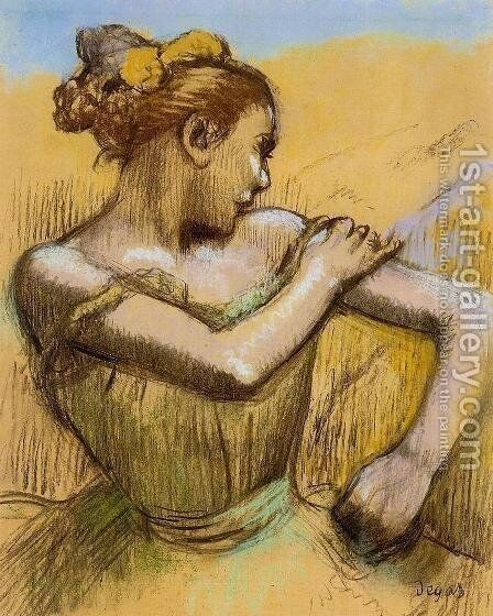 Torso of a Dancer by Edgar Degas - Reproduction Oil Painting