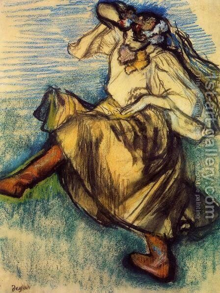 Russian Dancer I by Edgar Degas - Reproduction Oil Painting